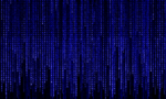 Blue matrix code  landscape