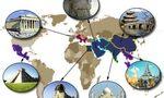 World map  landscape