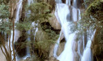 Laos waterfall tiny landscape