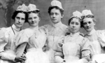 Group of nurses tiny landscape