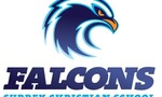 Falcon logo with school name  landscape